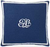 """Ralph Lauren Leighton Monogram 16"""" Square Decorative Pillow"""