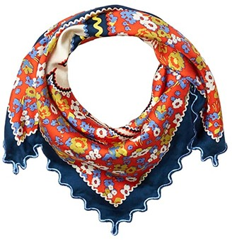 Tory Burch Confetti Field Neckerchief (Poppy Red) Scarves