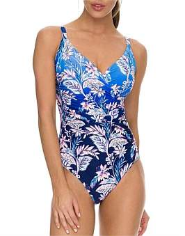 Jantzen Callie Ruched Cross Over One Piece