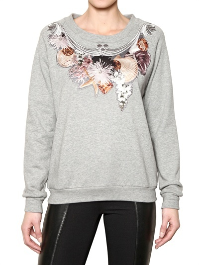 Emma Cook Silk Satin & Cotton Fleece Sweatshirt