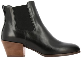 Hogan 474 Chelsea Ankle Boots In Leather