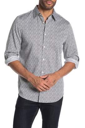 Perry Ellis Arrow Long Sleeve Shirt
