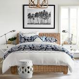Williams-Sonoma Williams Sonoma Leaf Embroidered Linen Bedding