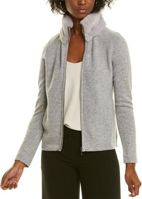 Forte Cashmere Full Zip Cashmere Cardigan