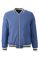 Classic Men's Oxford Varsity Jacket Navy Seersucker