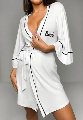 Missguided White Bride Dressing Gown