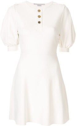 Stella McCartney Puff-Sleeve Flared Dress