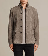 AllSaints Huxton Leather Blazer