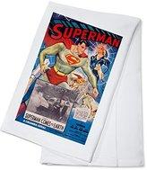 Superman Vintage Poster USA c. 1948 (100% Cotton Absorbent Kitchen Towel)