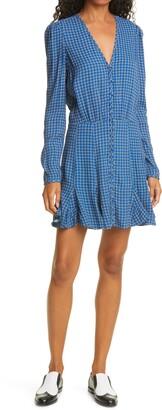 Veronica Beard Riggins Long Sleeve Silk Blend Minidress
