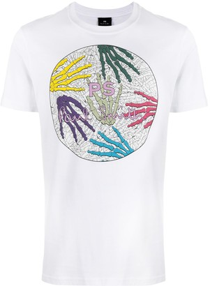 Paul Smith Skeleton Hands print T-shirt