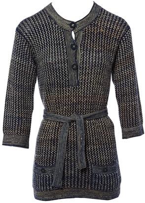 Chanel Blue Silk Knitwear