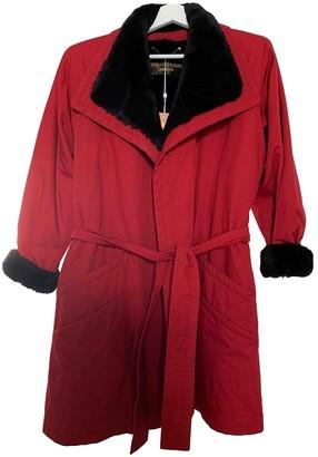 Saint Laurent Red Rabbit Coat for Women Vintage