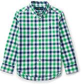 Ralph Lauren Long-Sleeve Check Sport Shirt, Green, Size 2-4