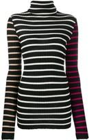 Nude striped turtleneck jumper