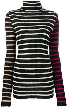 Nude Striped Turtleneck Jumper