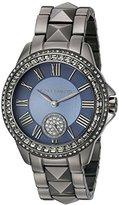 Vince Camuto Women's VC/5161NVGY Grey Swarovski Crystal Accented Gunmetal Bracelet Watch