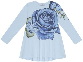 MonnaLisa Floral cotton-jersey top