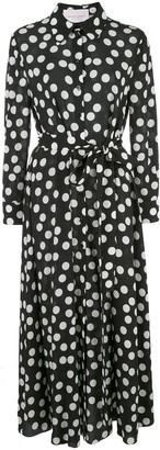Carolina Herrera Polka Dot Long Shirt Dress