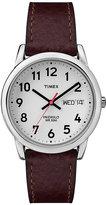 Timex Men's Brown Leather Strap Watch