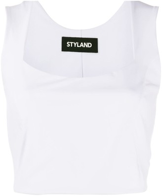 Styland Fitted Cropped Top