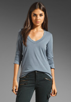 James Perse Long Sleeve Relaxed Casual V Neck