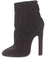 Alaia Embroidered Ankle Boots