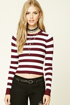 Forever 21 FOREVER 21+ Ribbed Stripe Sweater