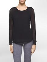 Calvin Klein Performance Mesh Long Sleeve Shirt