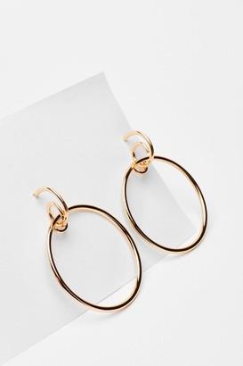 Nasty Gal Womens Drop It Down Low Oversized Hoop Earrings - Gold