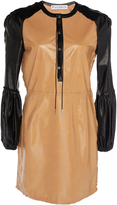 J.W.Anderson Mini Leather Shift Dress With Puff Sleeves
