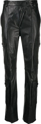 Kenzo Cargo Leather Straight Trousers