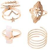 Charlotte Russe Embellished Filigree Stackable Rings - 4 Pack