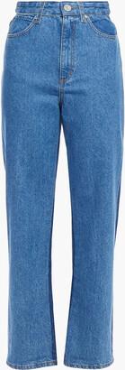 Sandro Two-tone High-rise Straight-leg Jeans