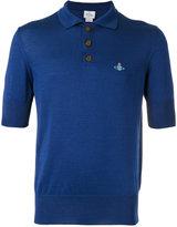 Vivienne Westwood Man - embroidered logo polo shirt - men - Cotton - S