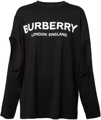 Burberry long-sleeve logo oversized T-shirt