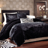 Bed Bath & Beyond Black Panther Faux Fur Duvet Cover Set