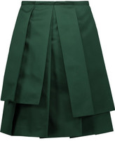 Rochas Pleated Satin Skirt