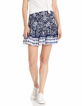 BB Dakota Women's Well Traveled Printed Skirt