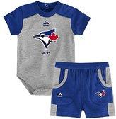 Majestic Toronto Blue Jays Newborn Double Header Bodysuit and Short Set