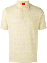 Isaia patterned polo shirt - men - Cotton - M