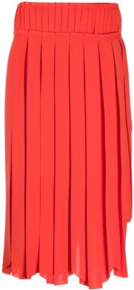 Lanvin Pleated Scallop-Hem Skirt