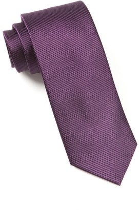 The Tie Bar Eggplant Skinny Solid Tie