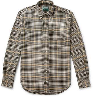 Gitman Brothers Button-Down Collar Houndstooth Cotton Shirt