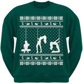 Old Glory Stripper Silhoutte Ugly Christmas Sweater Dark Adult Sweatshirt