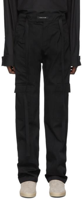 Fear Of God Black Baggy Cargo Pants