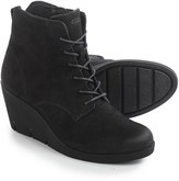 Ecco Bella Wedge Ankle Boots - Nubuck (For Women)
