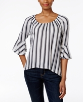 Style&Co. Style & Co Style & Co Petite Striped Bell-Sleeve Top, Created for Macy's