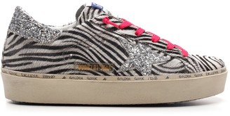 Golden Goose Zebra Superstar Sneakers