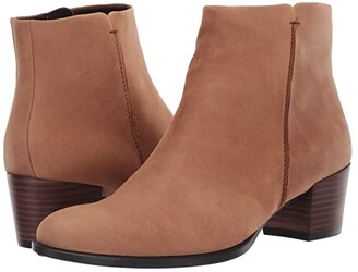 Ecco Shape 35 Stitch Boot (Camel Nubuck Leather) Women's Shoes